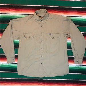 Harley Davidson button snap work shirt
